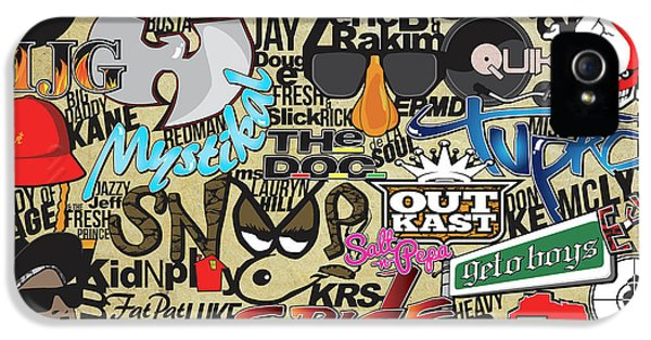Biggie iPhone 5s Case - 90s Rap History by Anysha Cokes