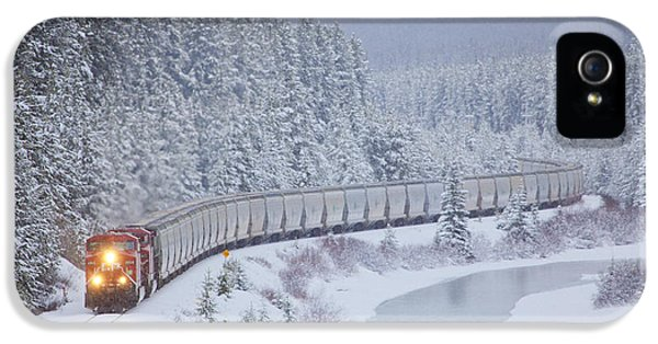 A Canadian Pacific Train Travels Along IPhone 5s Case by Chris Bolin
