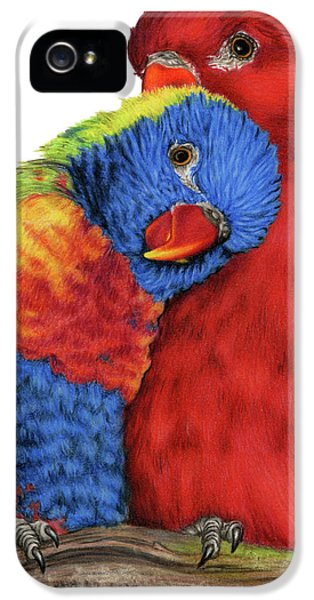 Lovebird iPhone 5s Case - Love Will Keep Us Together by Sarah Batalka