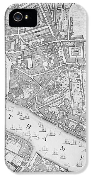 A Map Of The Tower Of London IPhone 5s Case by John Rocque