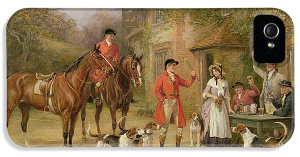 Pigeon iPhone 5s Case - A Meeting At The Three Pigeons by Heywood Hardy