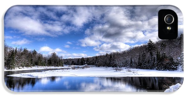 IPhone 5s Case featuring the photograph A Moose River Snowscape by David Patterson