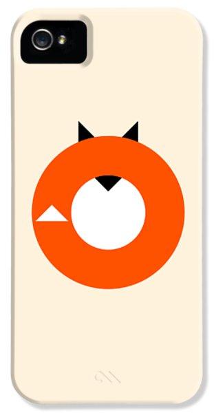 Fox iPhone 5s Case - A Most Minimalist Fox by Nicholas Ely