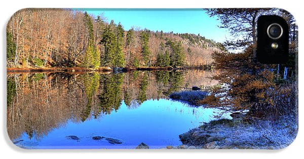 IPhone 5s Case featuring the photograph A November Morning On The Pond by David Patterson
