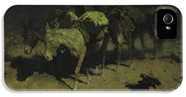A Pack Train IPhone 5s Case by Frederic Remington
