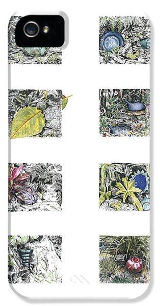 Far North Queensland iPhone 5s Case - A Potters Garden by Kerryn Madsen-Pietsch
