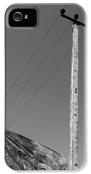 IPhone 5s Case featuring the photograph A Rock And A Pole, Hampi, 2017 by Hitendra SINKAR