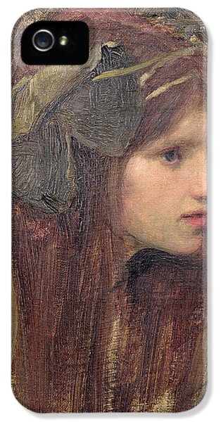 Portraits iPhone 5s Case - A Study For A Naiad by John William Waterhouse