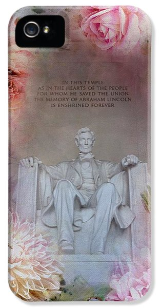 Lincoln Memorial iPhone 5s Case - Abraham Lincoln Memorial At Spring by Marianna Mills