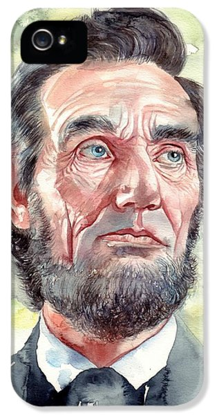 Abraham Lincoln iPhone 5s Case - Abraham Lincoln Portrait by Suzann's Art