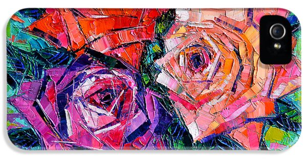 Rose iPhone 5s Case - Abstract Bouquet Of Roses by Mona Edulesco