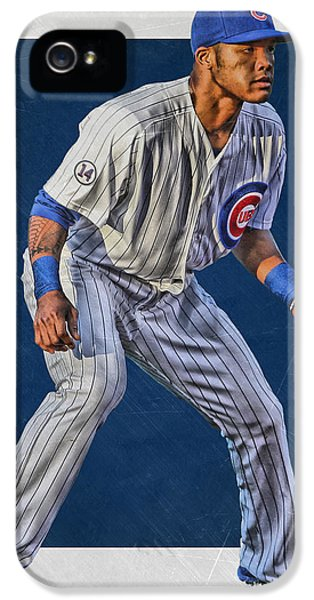 Chicago Cubs iPhone 5s Case - Addison Russell Chicago Cubs Art 2 by Joe Hamilton