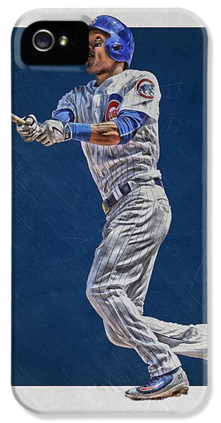 Professional Baseball Teams iPhone 5s Case - Addison Russell Chicago Cubs Art by Joe Hamilton