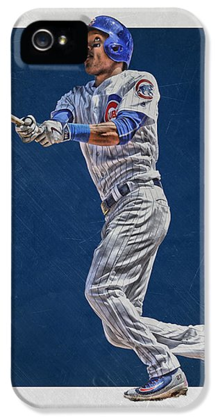 Addison Russell Chicago Cubs Art IPhone 5s Case by Joe Hamilton