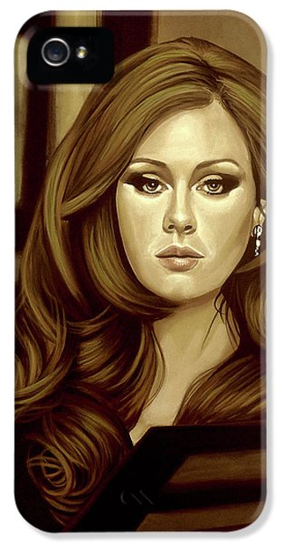 Rhythm And Blues iPhone 5s Case - Adele Gold by Paul Meijering
