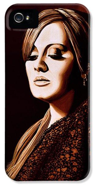 Adele Skyfall Gold IPhone 5s Case by Paul Meijering
