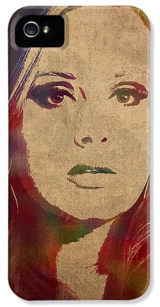 Adele Watercolor Portrait IPhone 5s Case