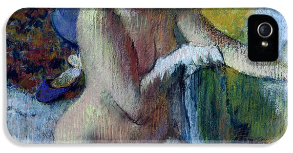 Impressionism iPhone 5s Case - After The Bath by Edgar Degas