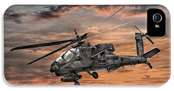 Helicopter iPhone 5s Case - Ah-64 Apache Attack Helicopter by Randy Steele
