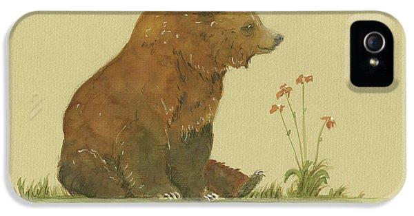 Alaskan Grizzly Bear IPhone 5s Case by Juan Bosco