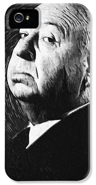 Alfred Hitchcock IPhone 5s Case by Taylan Apukovska