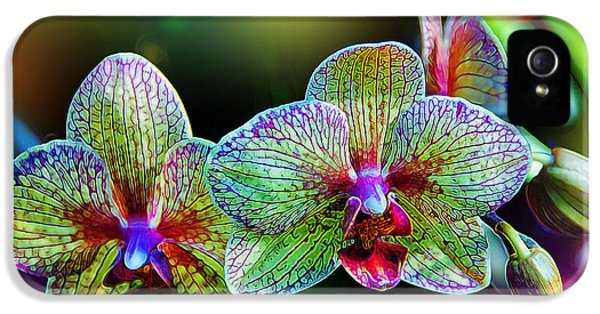 Orchid iPhone 5s Case - Alien Orchids by Bill Tiepelman