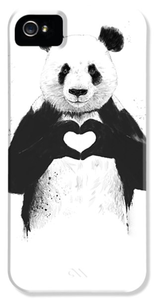 iPhone 5s Case - All You Need Is Love by Balazs Solti