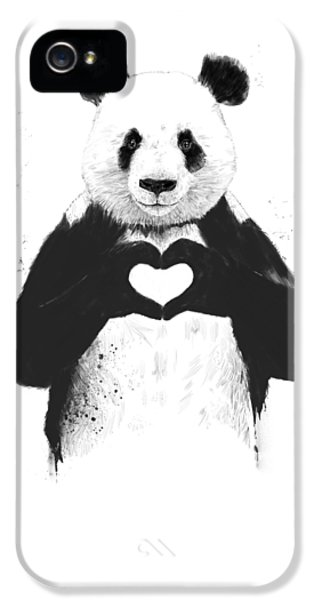 Animals iPhone 5s Case - All You Need Is Love by Balazs Solti