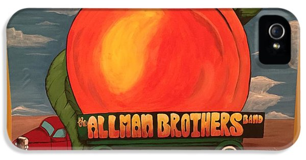Peach iPhone 5s Case - Allman Brothers Eat A Peach by Wes Beaver