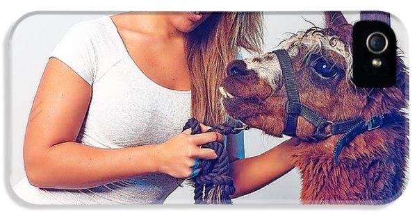 Alpaca Mr. Tex And Breanna IPhone 5s Case by TC Morgan