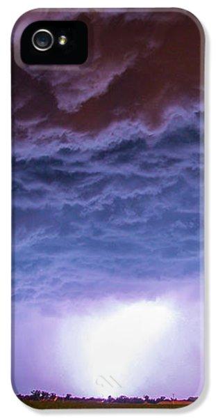 Nebraskasc iPhone 5s Case - Another Impressive Nebraska Night Thunderstorm 007 by NebraskaSC