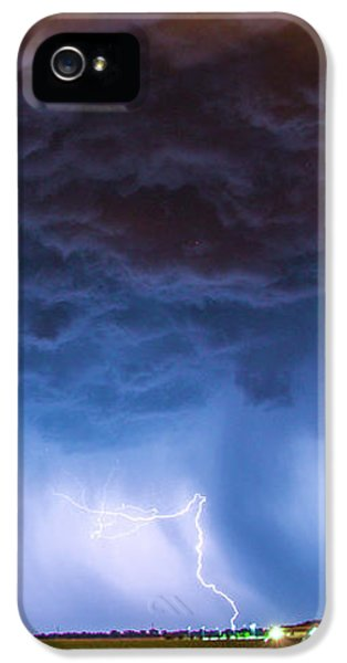 Nebraskasc iPhone 5s Case - Another Impressive Nebraska Night Thunderstorm 008/ by NebraskaSC