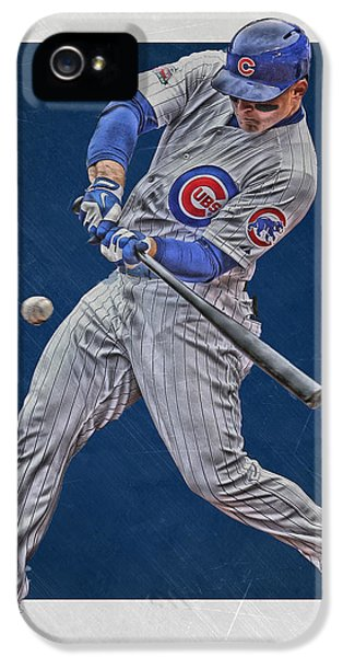 Professional Baseball Teams iPhone 5s Case - Anthony Rizzo Chicago Cubs Art 1 by Joe Hamilton