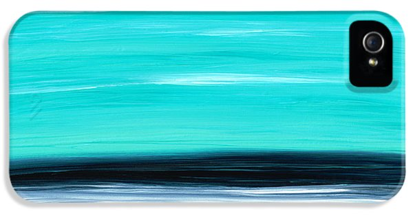 Water Ocean iPhone 5s Case - Aqua Sky - Bold Abstract Landscape Art by Sharon Cummings