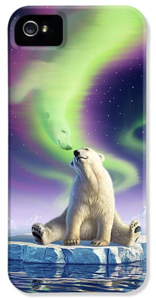 Polar Bear iPhone 5s Case - Arctic Kiss by Jerry LoFaro