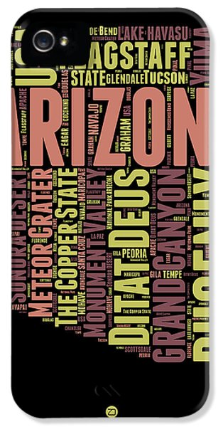 Arizona Word Cloud Map 1 IPhone 5s Case