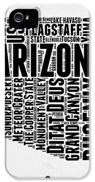 Arizona Word Cloud Map 2 IPhone 5s Case