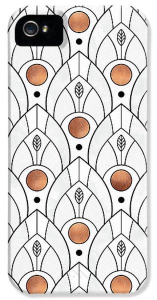 Art Deco Leaves 1 IPhone 5s Case by Elisabeth Fredriksson