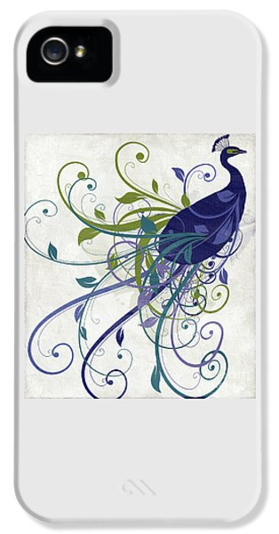 Peacock iPhone 5s Case - Art Nouveau Peacock I by Mindy Sommers