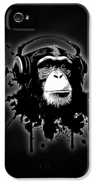 Monkey Business - Black IPhone 5s Case by Nicklas Gustafsson