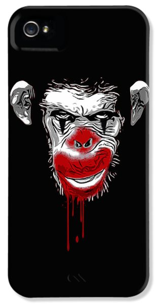 Evil Monkey Clown IPhone 5s Case by Nicklas Gustafsson