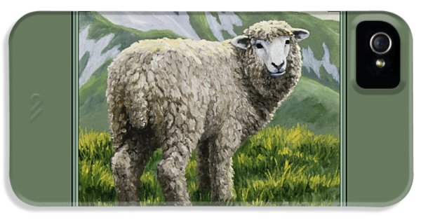 Sheep iPhone 5s Case - Highland Ewe by Crista Forest