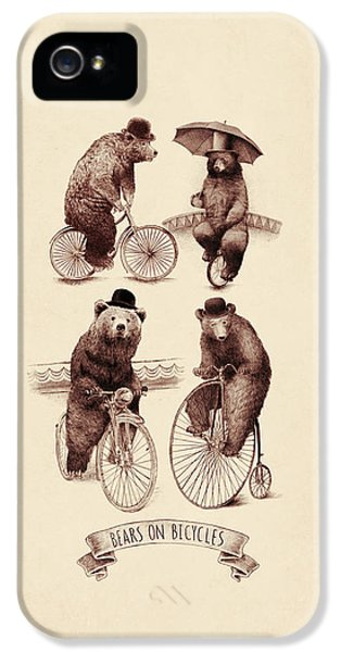 Bears On Bicycles IPhone 5s Case by Eric Fan