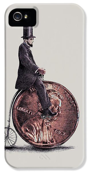 Abraham Lincoln iPhone 5s Case - Penny Farthing by Eric Fan
