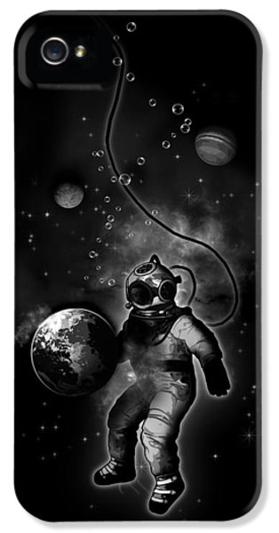 Deep Sea Space Diver IPhone 5s Case by Nicklas Gustafsson