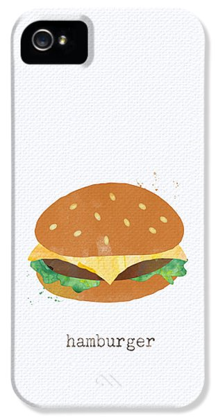 Hamburger IPhone 5s Case by Linda Woods