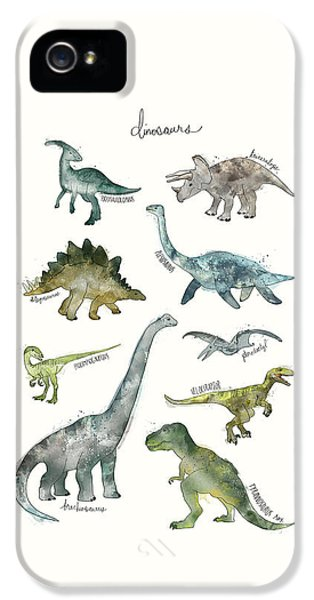 Dinosaurs IPhone 5s Case by Amy Hamilton