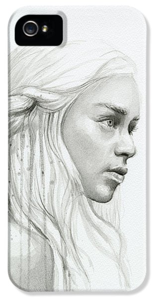 Dragon iPhone 5s Case - Daenerys Mother Of Dragons by Olga Shvartsur