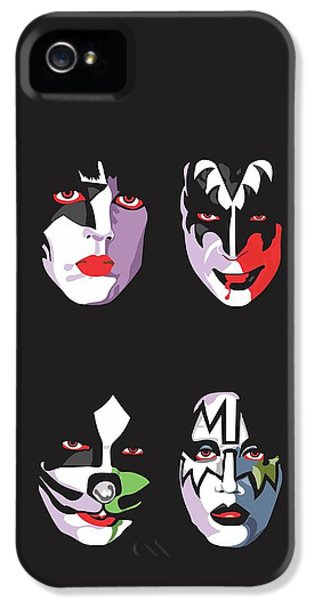 Music iPhone 5s Case - Kiss by Troy Arthur Graphics