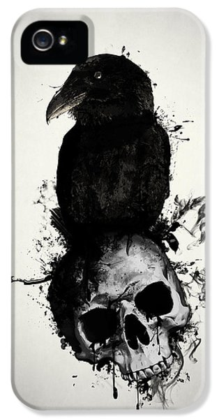 Crow iPhone 5s Case - Raven And Skull by Nicklas Gustafsson